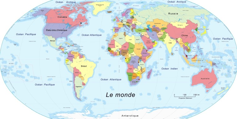 Weltkarte 2019